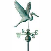 Good Directions Graceful Blue Heron Weathervane - Blue Verde Copper