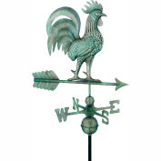 Good Directions Proud Rooster Weathervane - Blue Verde Copper