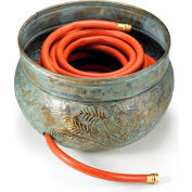 "Good Directions 457B, Key West Hose Pot, Blue Verde Brass, 16""D"