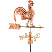 """Good Directions 25"""" Rooster Weathervane, Polished Copper"""