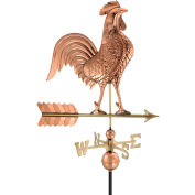 "Good Directions 27"" Rooster Weathervane, Polished Copper"