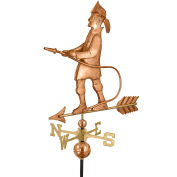 Good Directions Fireman Weathervane, Polished Copper