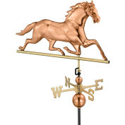 Good Directions Horse Weathervane, Polished Copper