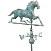 Good Directions Horse Weathervane, Blue Verde Copper