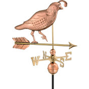 Good Directions Quail Weathervane, Polished Copper
