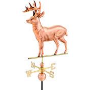 Good Directions Standing Deer Weathervane, Polished Copper