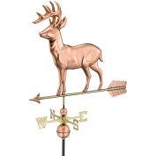 Good Directions Standing Deer Weathervane w/ Arrow, Polished Copper