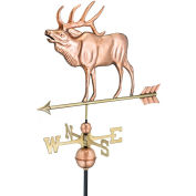 Good Directions Elk Weathervane, Polished Copper