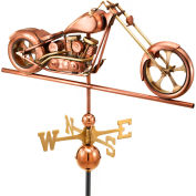 Good Directions Chopper Weathervane, Polished Copper