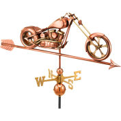 Good Directions Chopper Weathervane w/ Arrow, Polished Copper