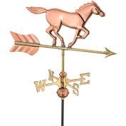 Good Directions Horse Garden Weathervane, Polished Copper w/Garden Pole