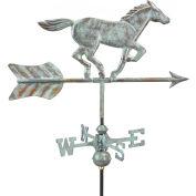 Good Directions Horse Garden Weathervane, Blue Verde Copper w/Garden Pole