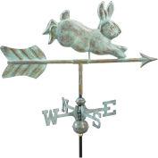 Good Directions Rabbit Garden Weathervane, Blue Verde Copper w/Garden Pole