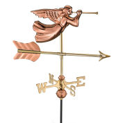 Good Directions Angel Garden Weathervane, Polished Copper w/Roof Mount