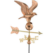 Good Directions Eagle Garden Weathervane, Polished Copper w/Roof Mount
