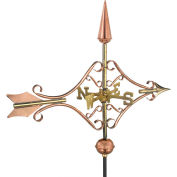 Good Directions Victorian Arrow Garden Weathervane, Polished Copper w/Roof Mount