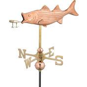Good Directions Bass w/ Lure Garden Weathervane, Polished Copper w/Garden Pole
