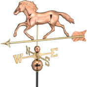 Good Directions Smithsonian Running Horse Weathervane, Polished Copper