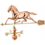 Good Directions Large Horse Estate Weathervane, Polished Copper