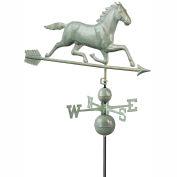 Good Directions Large Horse Estate Weathervane - Blue Verde Copper