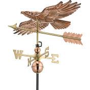 Good Directions Soaring Hawk Weathervane, Polished Copper