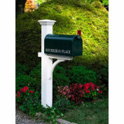 """Good Directions 999191 Lazy Hill Farm Designs Sovereign Mailbox Post - 84""""H, White"""