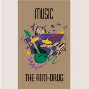 "Music Anti-Drug Mat - 36"" x 60"""
