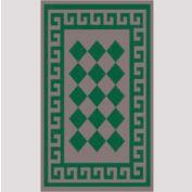 "Decor Mat - Checkerboard Green 36"" x 60"""