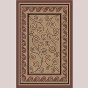 "Decor Mat - Swirl Chocolate 48"" x 72"""