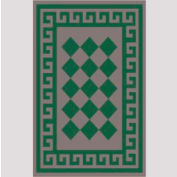 "Decor Mat - Checkerboard Green 48"" x 72"""