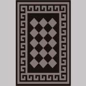 """Decor Mat - Checkerboard Silver 48"""" x 72"""""""