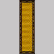 "Decor Mat - Lattice Gold 36"" x 120"""