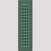 "Decor Mat - Checkerboard Green 36"" x 120"""