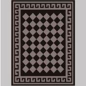 """Decor Mat - Checkerboard Silver 72"""" x 96"""""""