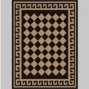 "Decor Mat - Checkerboard Suede 72"" x 96"""