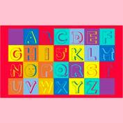 "Alphabet Faces Mat - 36"" x 60"""