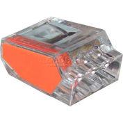 Gardner Bender 10-PC3 Pushgard® Push-In Connector, Orange, 3 Port - 100 pieces/Jar - Pkg Qty 6