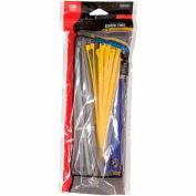 "Gardner Bender 10095VDV 4"" & 8"" Assorted Colored Cable Ties, DoubleLock® - 200 Pk"