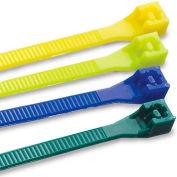 "Gardner Bender 45-308FB Cable Tie, Fluorescent Blue, 8"" 75 Lb - 20 pk."