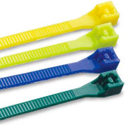 """Gardner Bender 45-308FY Doublelock Cable Tie, Fluorescent Yellow, 8"""" 75 Lb - 20 pk."""
