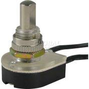 Gardner Bender GSW-24 Nickel Push O/F, SPST 6a 125vac, Wired