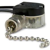 Gardner Bender GSW-31BP Nickel Pull Switch, SPST 6a 125 Vac, O/F - 10 pk.