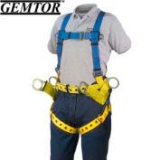 Gemtor 2010-4, Tower Climber Full-Body Harness - Tongue Buckle Leg Straps - XL