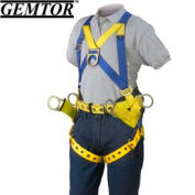 Gemtor 2015-4, Tower Climber Full-Body Harness - Tongue Buckle Leg Straps - XL-Front & Suspension
