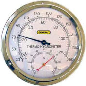 "General Tools A600FC Analog Thermo-Hygrometer With 5"" Aluminum Dial"