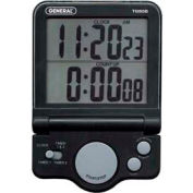 Digital Big Digit, Count-Up/Count-Down Timer With Clock (Black) - Pkg Qty 10