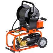 """General Wire JM-1450-C Electric Water Jet Drain W/150' x 1/4"""" Hose, 75' x 1/8"""" Hose & (2)Nozzle Sets"""