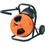"""General Wire MRP-D Mini-Rooter Pro Drain/Sewer Cleaning Machine W/75' x 1/2"""" Cable & 4 Pc Cutter Set"""