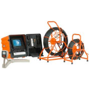 General Wire SL-SD-A Pipe Inspection Unit w/200' Pushrod, Self-Leveling Camera & DVDR