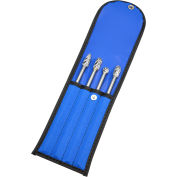 "4 Piece Bur Set, 6"" Extended Length, Aluminum Cut - Grobet USA 32.93503"